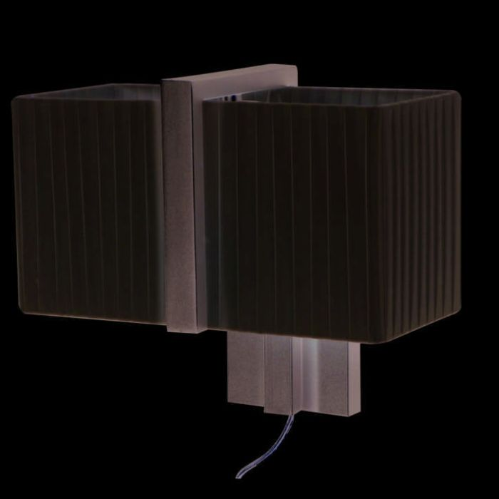 Wall-Lamp-Lars-Silver-Gray-with-Plisee-Creme-Shade