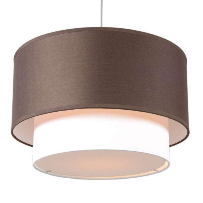 Pendant-Lamp-Tamburo-Due-40cm-Brown-White