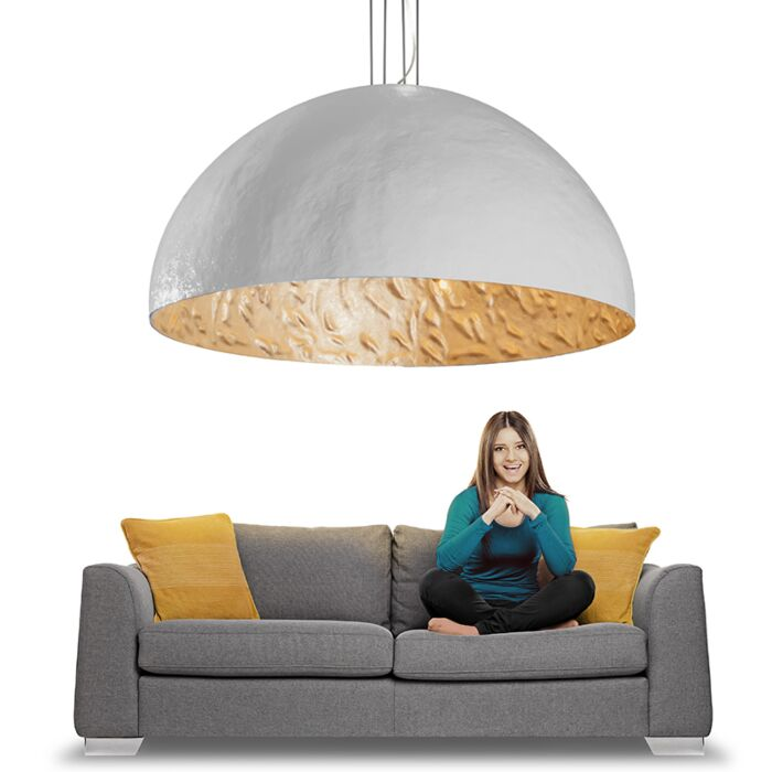 Pendant-Lamp-Magna-160-White-with-Silver