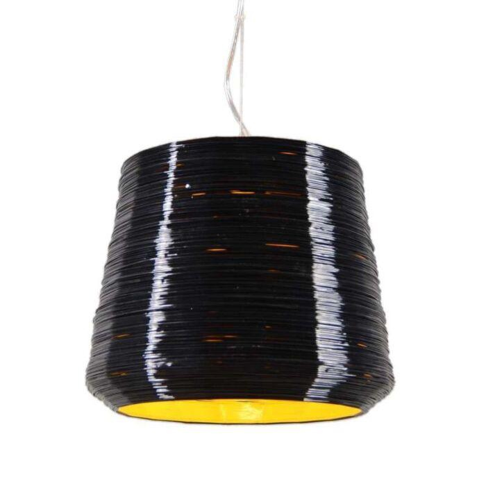 Pendant-Lamp-Como-38-Black-with-Yellow