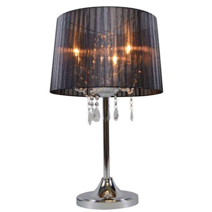 Classic-table-lamp-chrome-with-black-shade---Ann-Kathrin-3