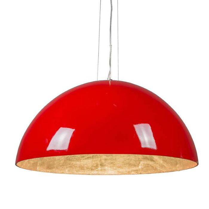 Pendant-Lamp-Magna-Glossy-70cm-Red-and-Silver