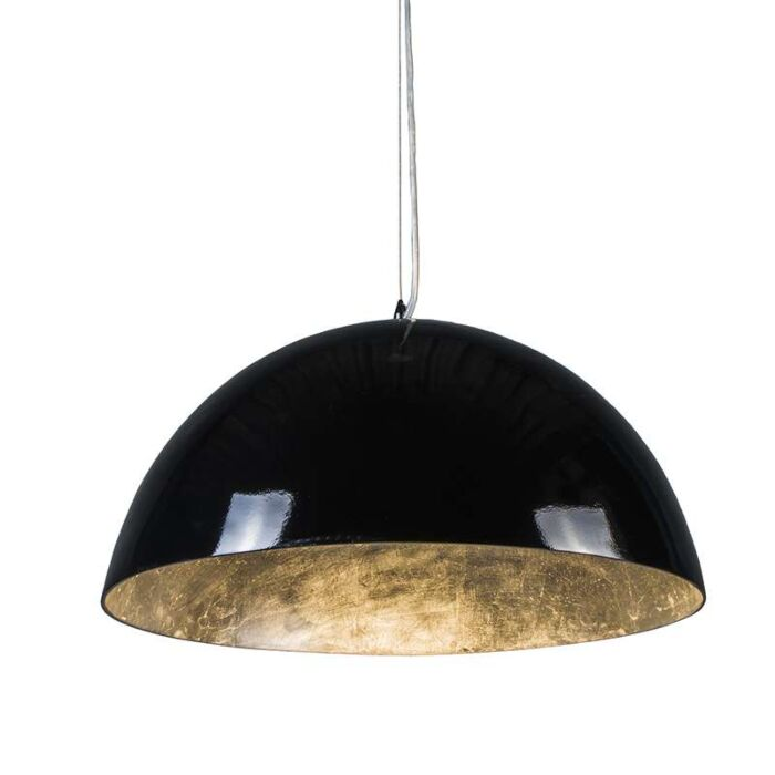 Pendant-Lamp-Magna-Glossy-55cm-Black-and-silver