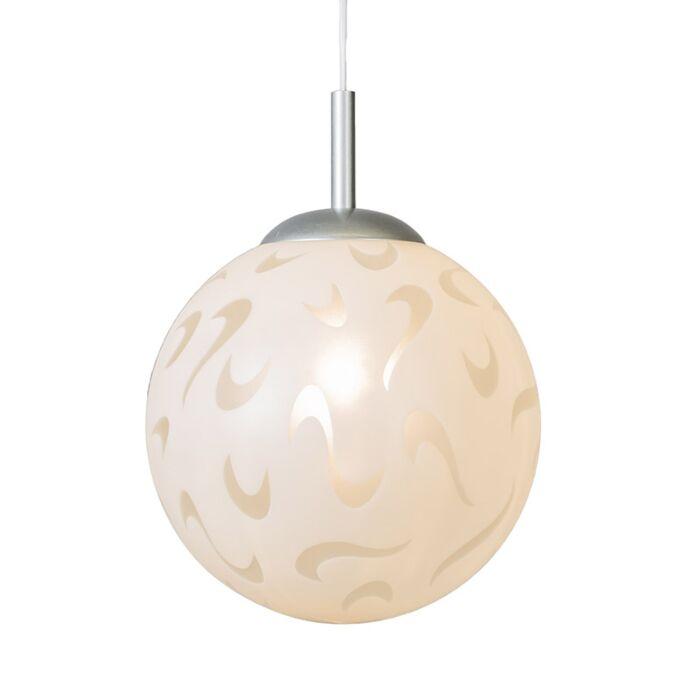 Earth-white-decor-glass-pendant-lamp