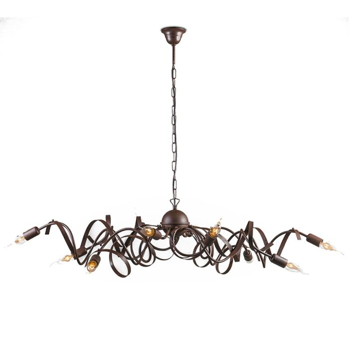 Country-chandelier-brown-10-light---Ricciolo