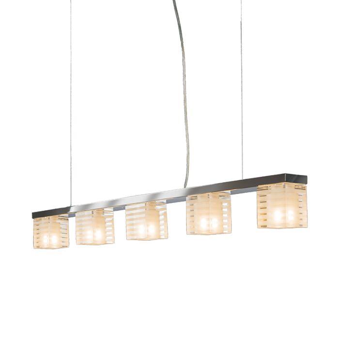 Pendant-Lamp-Dice-5-Clear-Glass