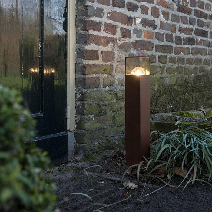 Industrial-Outdoor-Pole-50cm-Rust-Brown-IP44---Denmark