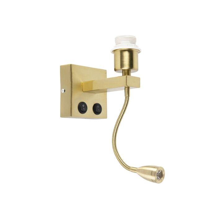 Modern-wall-lamp-gold-with-flex-arm---Brescia-Combi