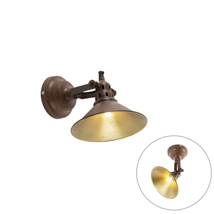 Industrial-wall-lamp-rusting-with-gold---Rust