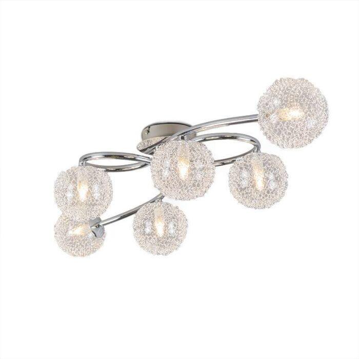 Art-Deco-Ceiling-Lamp-6-Chrome---Sfera-Wire