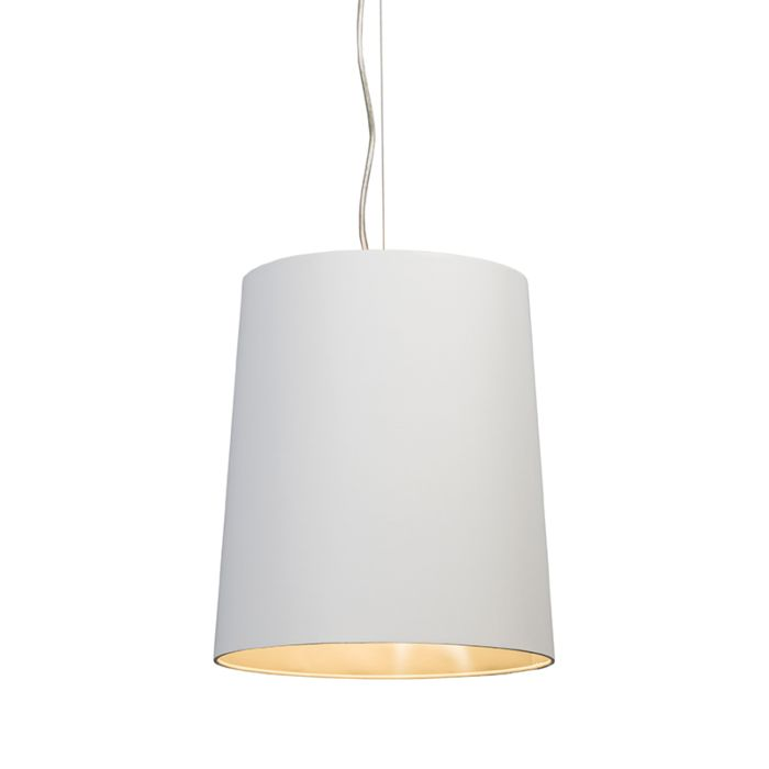 Pendant-lamp-Cappo-1-with-White-and-Silver-Shade
