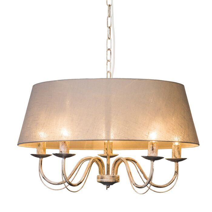 Chandelier-Soprano-5-Taupe-with-Shade