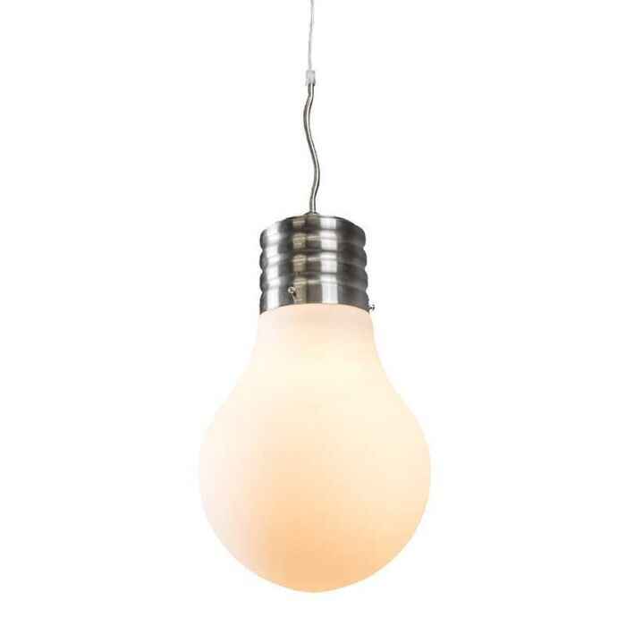 Pendant-Lamp-Bulb-steel-with-white-opal-glass