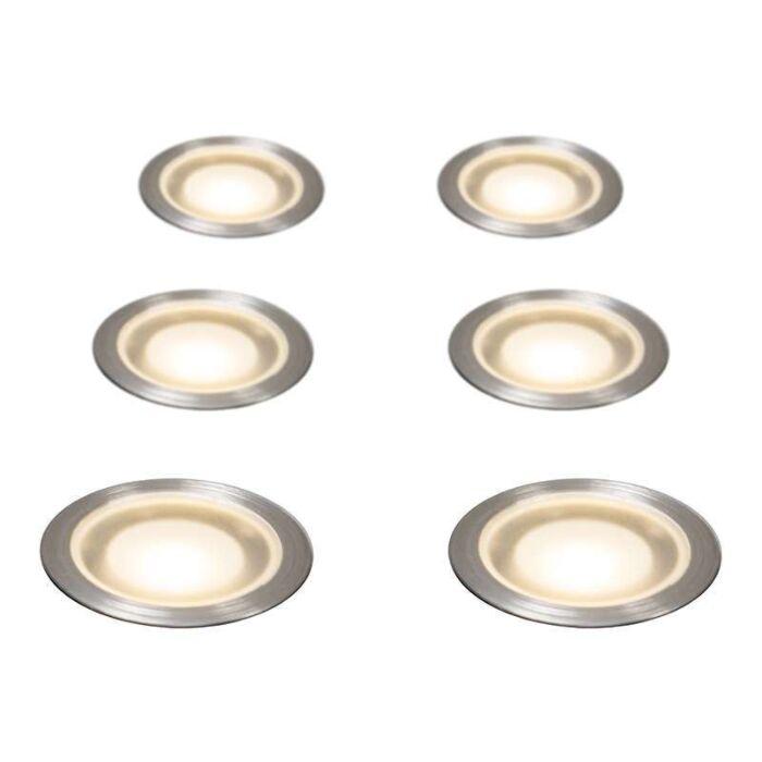 Set-of-6-Recessed-Spot-Lights-Guard-IP54-WW