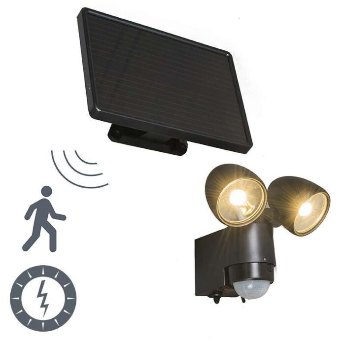 Outdoor-Lamp-VAP-Duo-Black-with-motion-solar