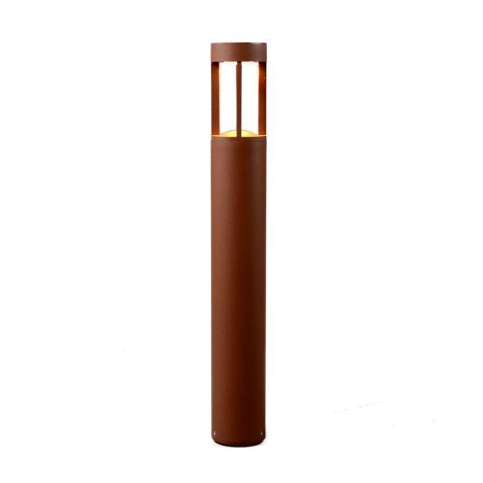 Outdoor-lamp-Sanok-pillar-rust