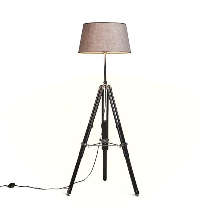 Floor-Lamp-Tripod-Black-with-Shade