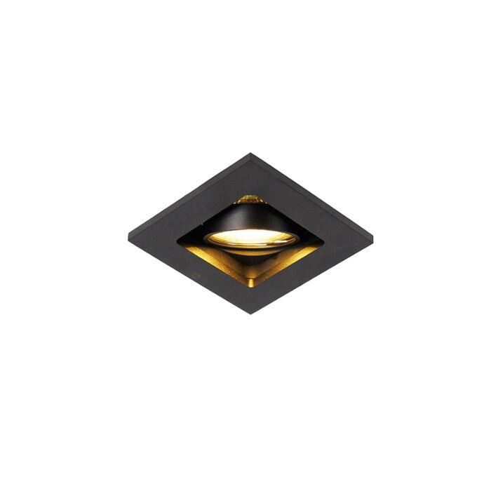 Modern-recessed-spot-black-adjustable---Qure