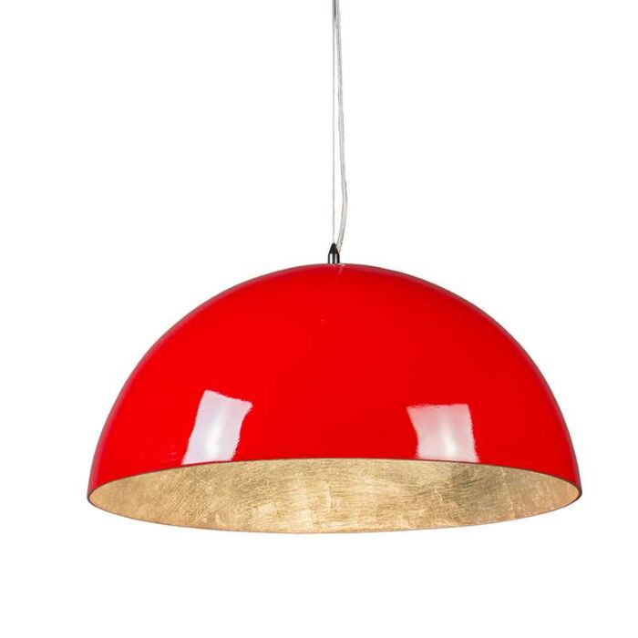 Pendant-Lamp-Magna-Glossy-55cm-Red-and-Silver