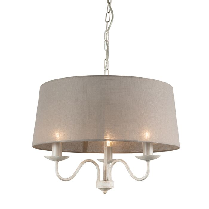 Chandelier-Soprano-3-Taupe-with-Shade