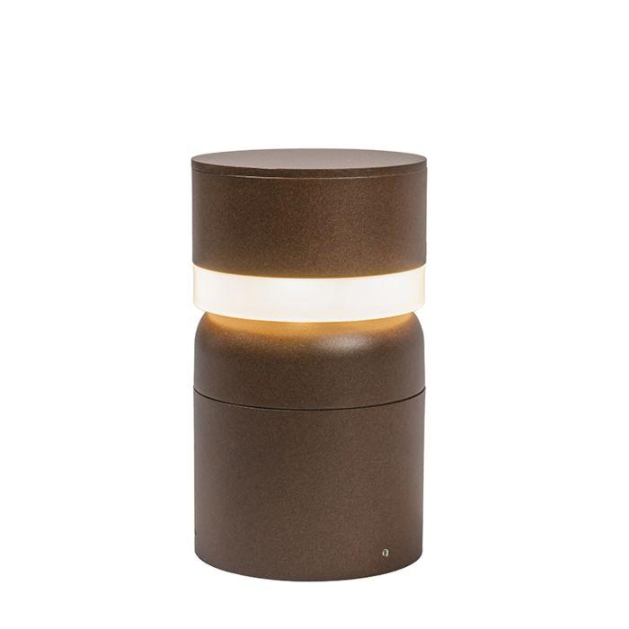 Outdoor-Pole-LED-Tempest-25cm-Rust