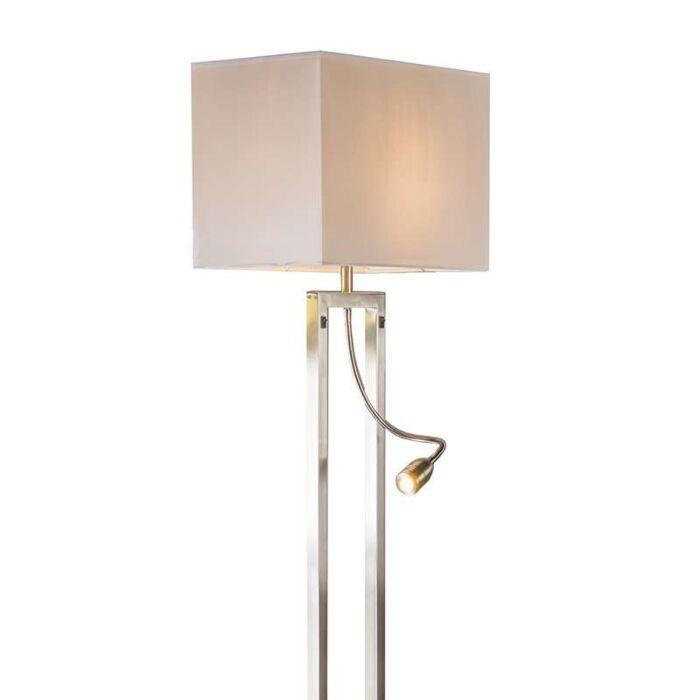Floor-lamp-Bergamo-steel-with-cream-white-shade