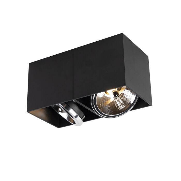 Design-spot-rectangular-2-light-black-incl.-2-x-G9---Box