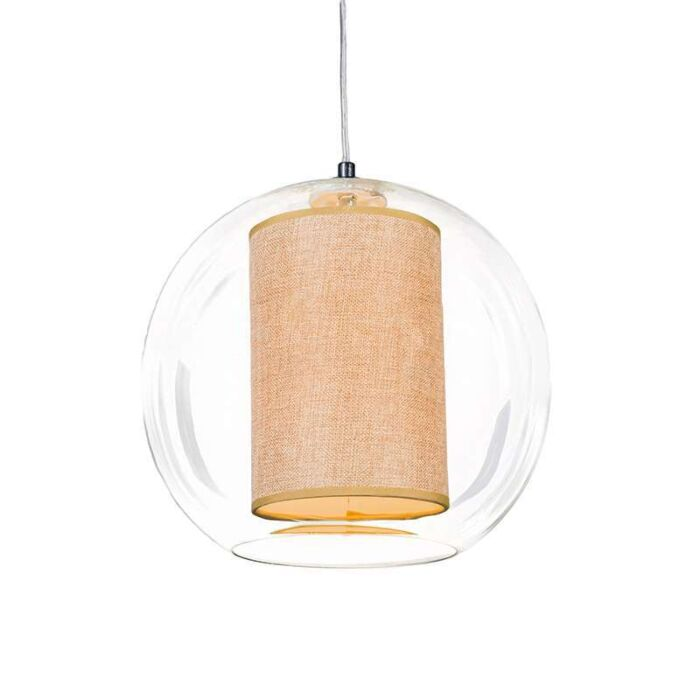 Pendant-Lamp-Globe-30-with-Beige-Shade