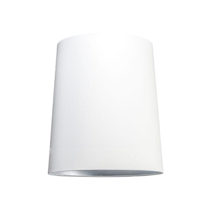 Shade-Round-35cm-SU-E27-White-Silver