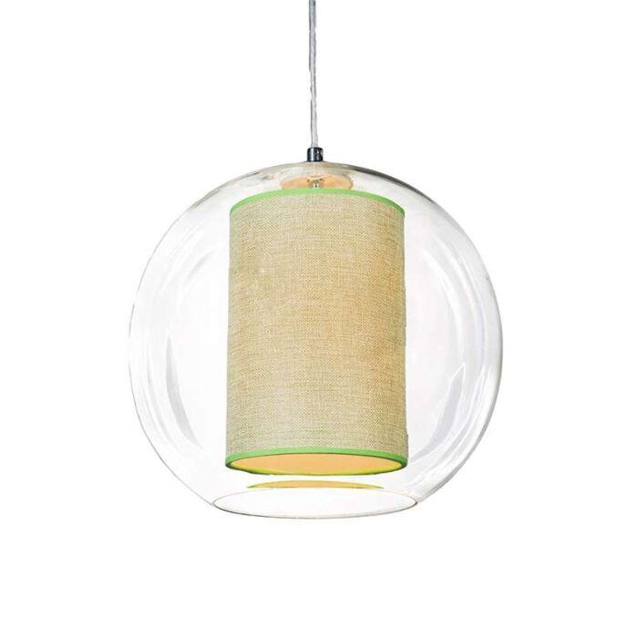 Pendant-Lamp-Globe-30-with-Green-Shade