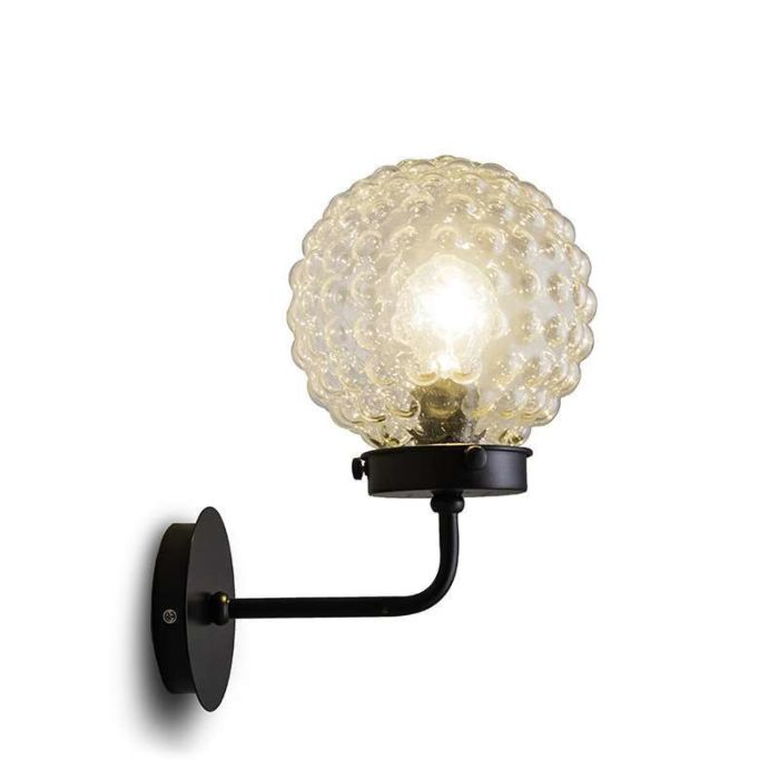 Brufoli-wall-lamp-with-clear-glass-in-black