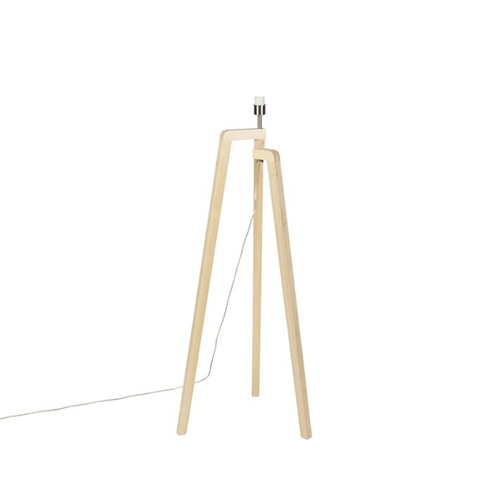 Floor-lamp-tripod-wood-without-shade---Puros