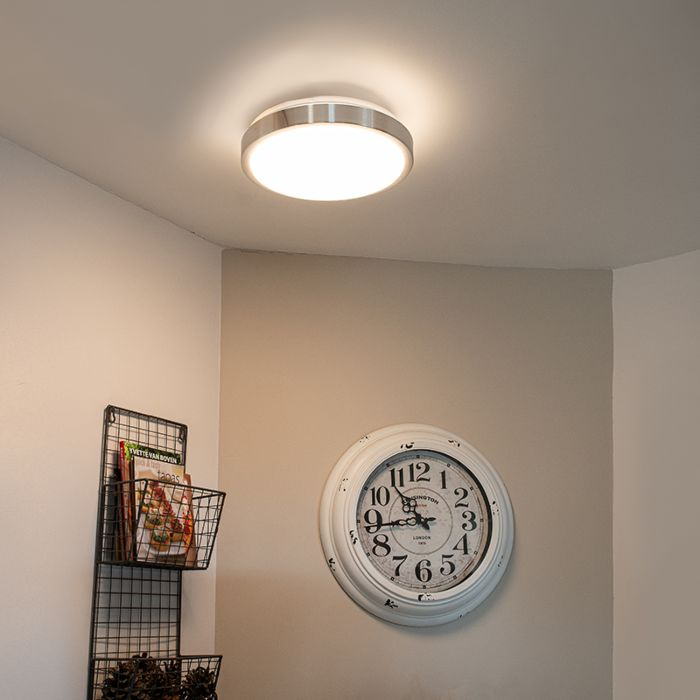 Modern-aluminum-ceiling-lamp-31-cm-incl.-LED-12W---Avant