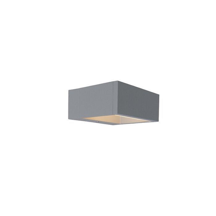 Outdoor-Wall-Lamp-Frame-LED-Silver