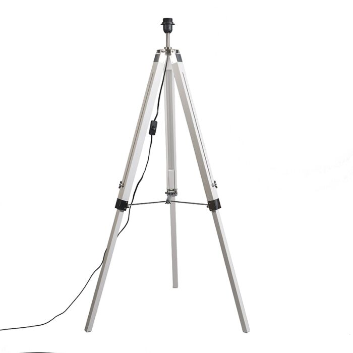Country-floor-lamp-white-without-shade---Tripod