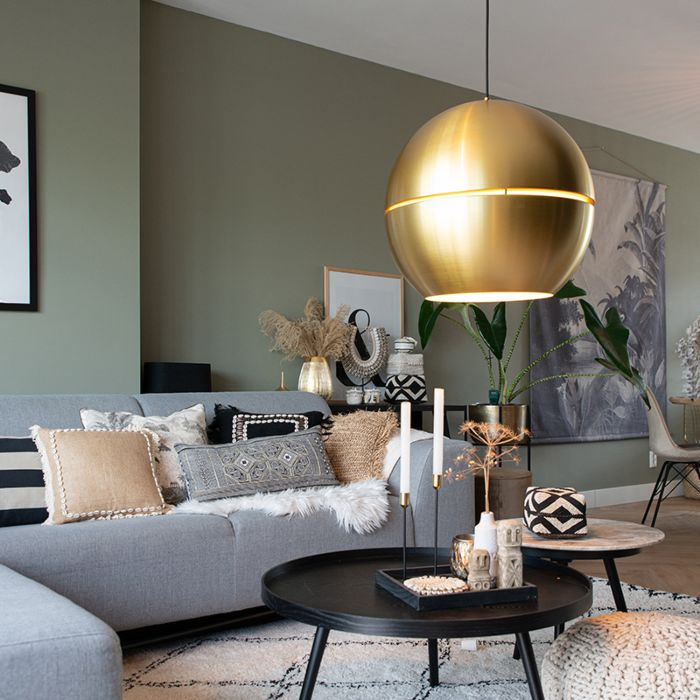 Art-deco-hanging-lamp-gold-50-cm---Slice