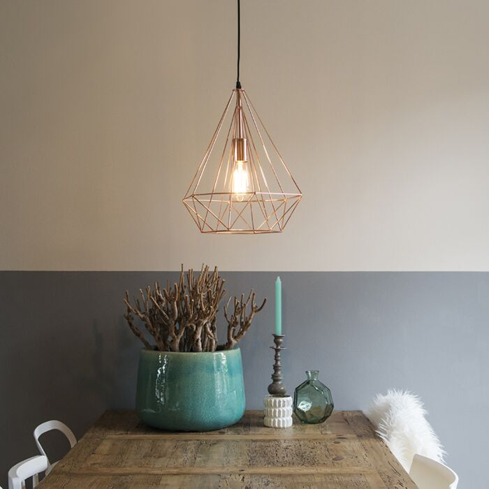 Industrial-hanging-lamp-copper---Carcass
