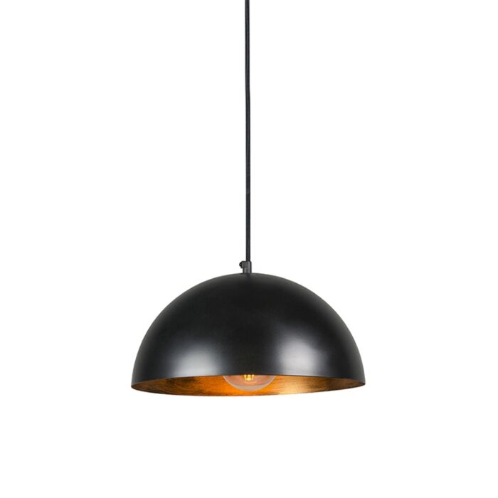 Industrial-hanging-lamp-black-with-gold-35-cm---Magna-Eco