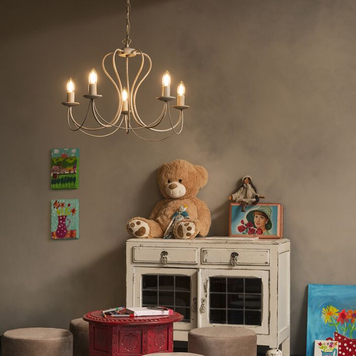 Classic-chandelier-taupe---Como-5