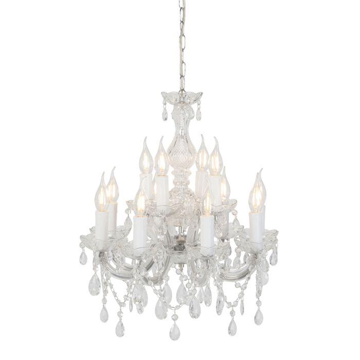 Chandelier-transparent-48-cm-12-light---Marie-Theresa