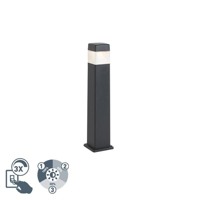 Modern-outdoor-post-black-80-cm-incl.-LED-IP55---Elisa