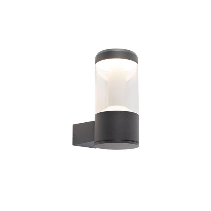 Modern-round-exterior-wall-lamp-dark-gray-IP54---Imcus