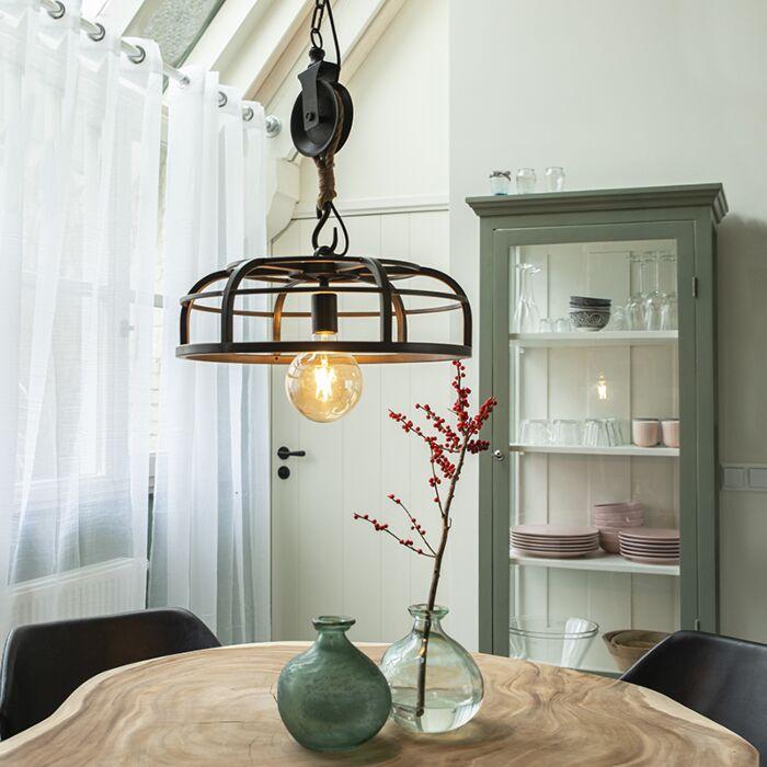 Industrial-hanging-lamp-black-steel---Camelot