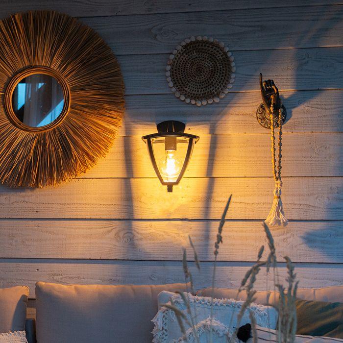 Classic-outdoor-lantern-wall-down-dark-gray-IP44---Platar