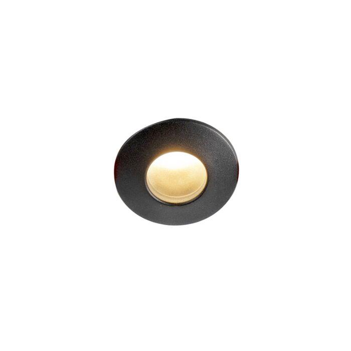 Modern-recessed-spot-black-IP44---Gap