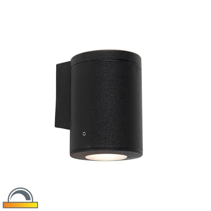 Modern-wall-lamp-black-IP55-incl.-1-x-GU10---Franca