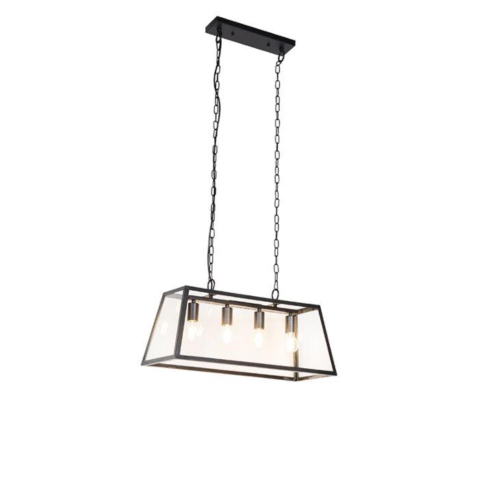 Industrial-hanging-lamp-black-4-light---Captiva