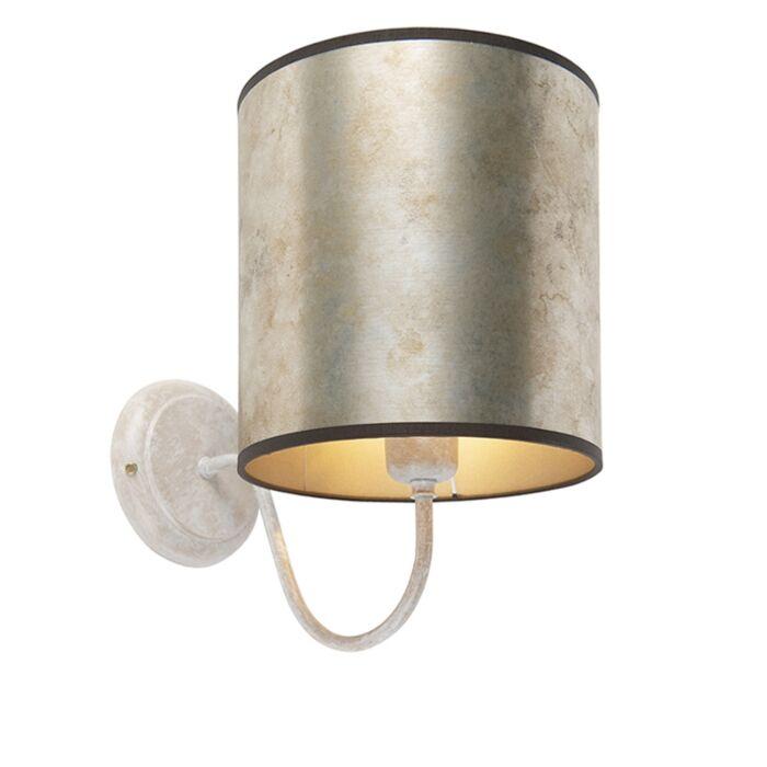 Classic-wall-lamp-beige-with-zinc-shade---Matt