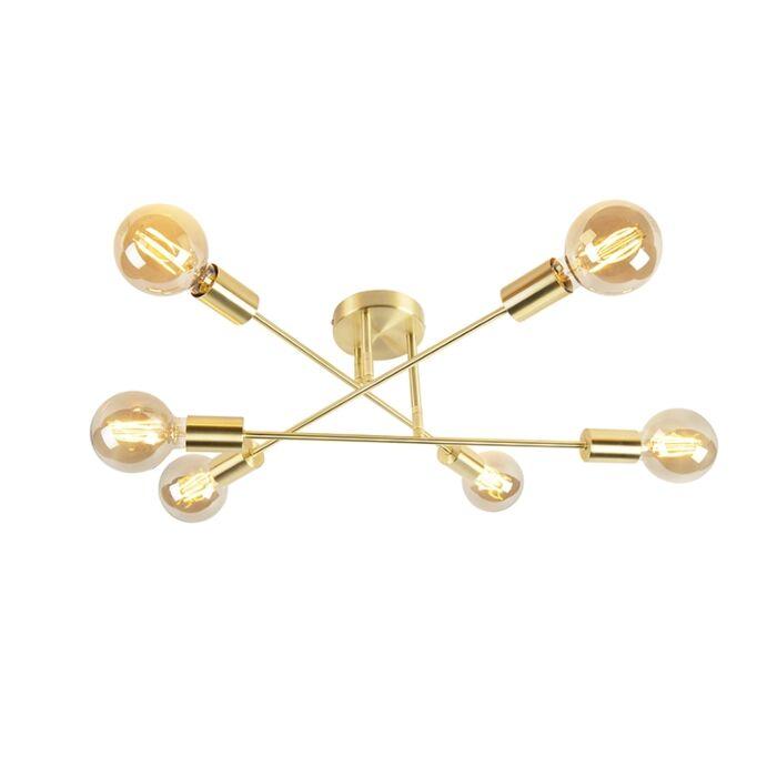 Industrial-ceiling-lamp-gold-6-lights---Sydney-Bondi