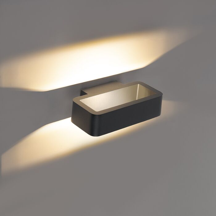 Modern Outdoor Wall Lamp Anthracite Incl Led Vasso Tres Lampandlight